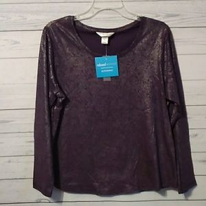 Christopher and Banks petite shirt size large 0211
